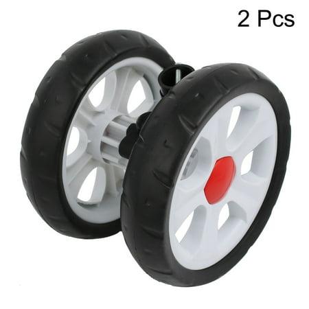 160mm Diameter Plastic Double Wheel Swivel Pulley Roller for 22mm Tube