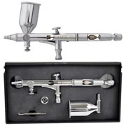 Master Airbrush SB86 High Precision Detail Control Dual-Action Side Feed Airbrush Set Kit, 0.2mm Tip, 1/2 oz Gravity Cup