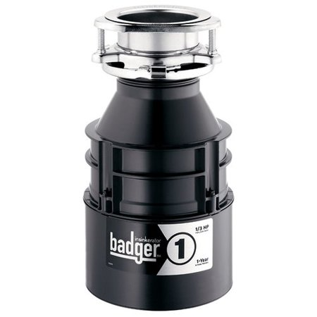 Insinkerator badger series 1 3 hp continuous feed garbage for How to tell if garbage disposal motor is burned out