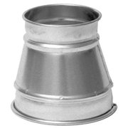 """NORDFAB Reducer,12"""" x 6"""" Duct Size 3222-1206-100000"""