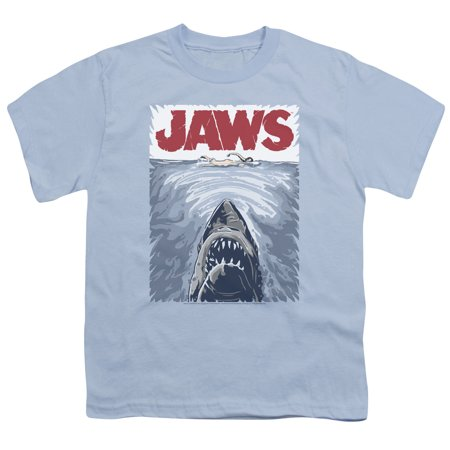 Trevco - Jaws/graphic Poster S/s Youth 18/1 Light Blue ...