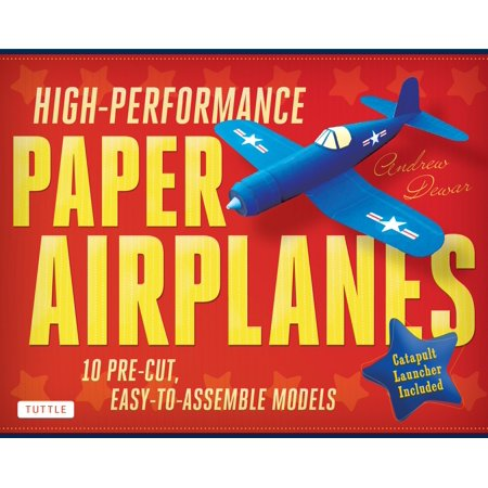Catapult Kits (High-Performance Paper Airplanes Kit: 10 Pre-Cut, Easy-To-Assemble Models: Kit with Pop-Out Cards, Paper Airplanes Book, & Catapult Launcher: Great for Kids and Parents!)