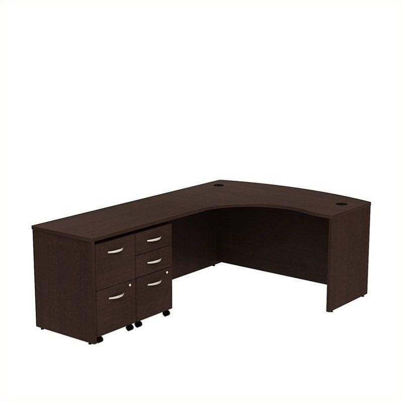 "Bush Business Series C 60"" Left 5 Drawer L-Shaped Desk in Mocha Cherry - image 1 of 1"