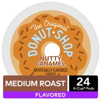 The Original Donut Shop Nutty Caramel, Flavored K-Cup Pods, Medium Roast, 96 Count For Keurig Brewers (4 Boxes of 24 K-Cups)