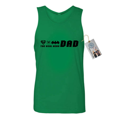 The Real Hero Dad Superhero Fathers Day Mens Tank Top T-Shirt