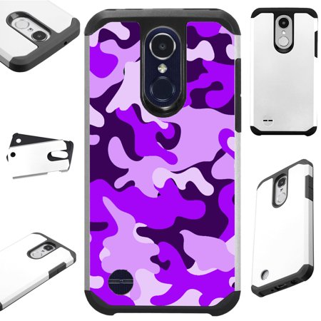 For LG Rebel 4 | LG Rebel 3 Case Hybrid TPU Fusion Phone Cover (Purple (Rebel Fusion)