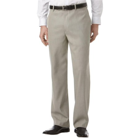 Perry Ellis Mens Folio-Flex Sharkskin Dress Pants