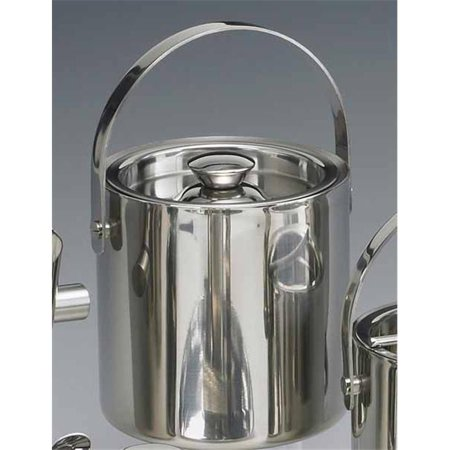 Brushed Stainless Ice Bucket (Kraftware 71487 Brushed Stainless Steel 1 Quart Doublewall Insulated Ice Bucket)