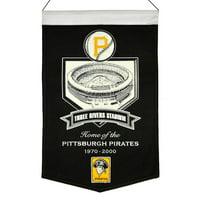 """Pittsburgh Pirates 15"""" x 24"""" Three Rivers Stadium Banner"""