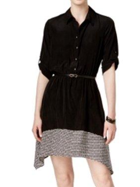 b6a6c198f9 Product Image BCX NEW Black Size Medium M Junior Betled Colorblock Sheath  Dress