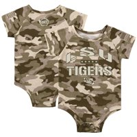 LSU Tigers Colosseum Newborn & Infant OHT Military Appreciation Desert Camo Raglan Bodysuit - Camo