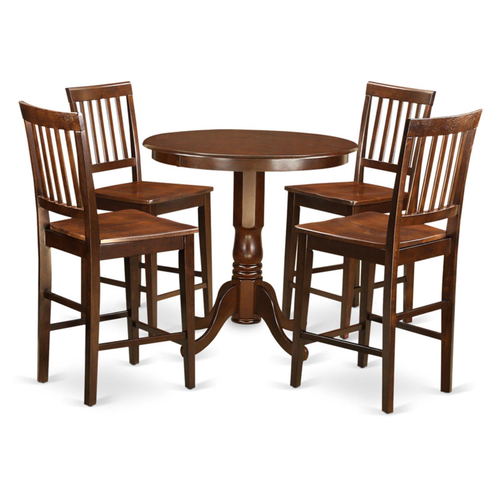 East West Furniture Jackson 5 Piece Slat Back Dining Table Set