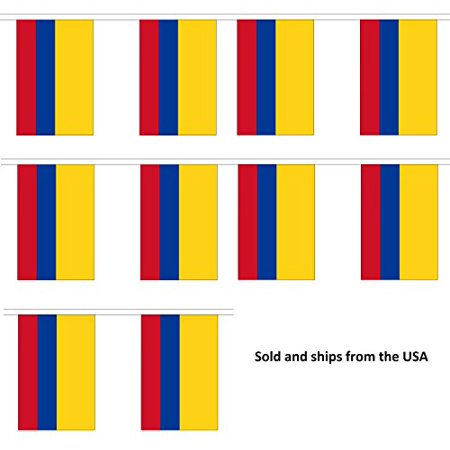 30' Columbia String Flag Party Bunting Has 30 Colombian 6
