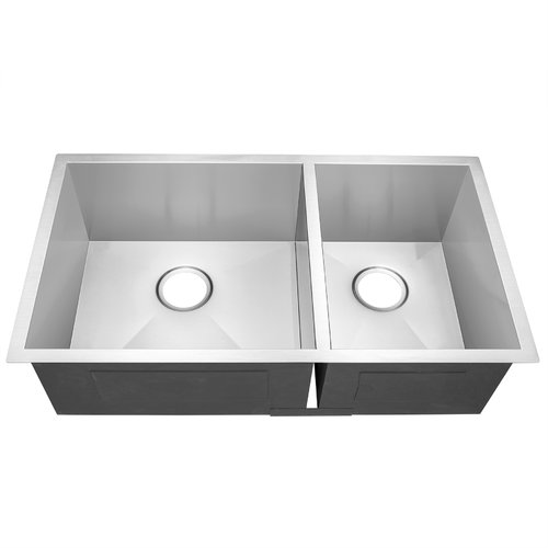 Golden Vantage AKDY 32'' x 18'' Double Bowl Kitchen Sink