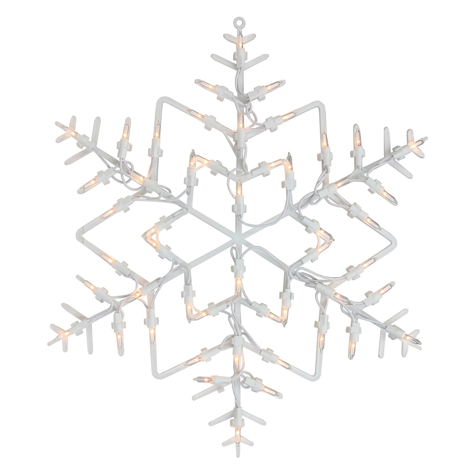 Northlight 13.5 in. Snowflake Christmas Window Silhouette Decoration