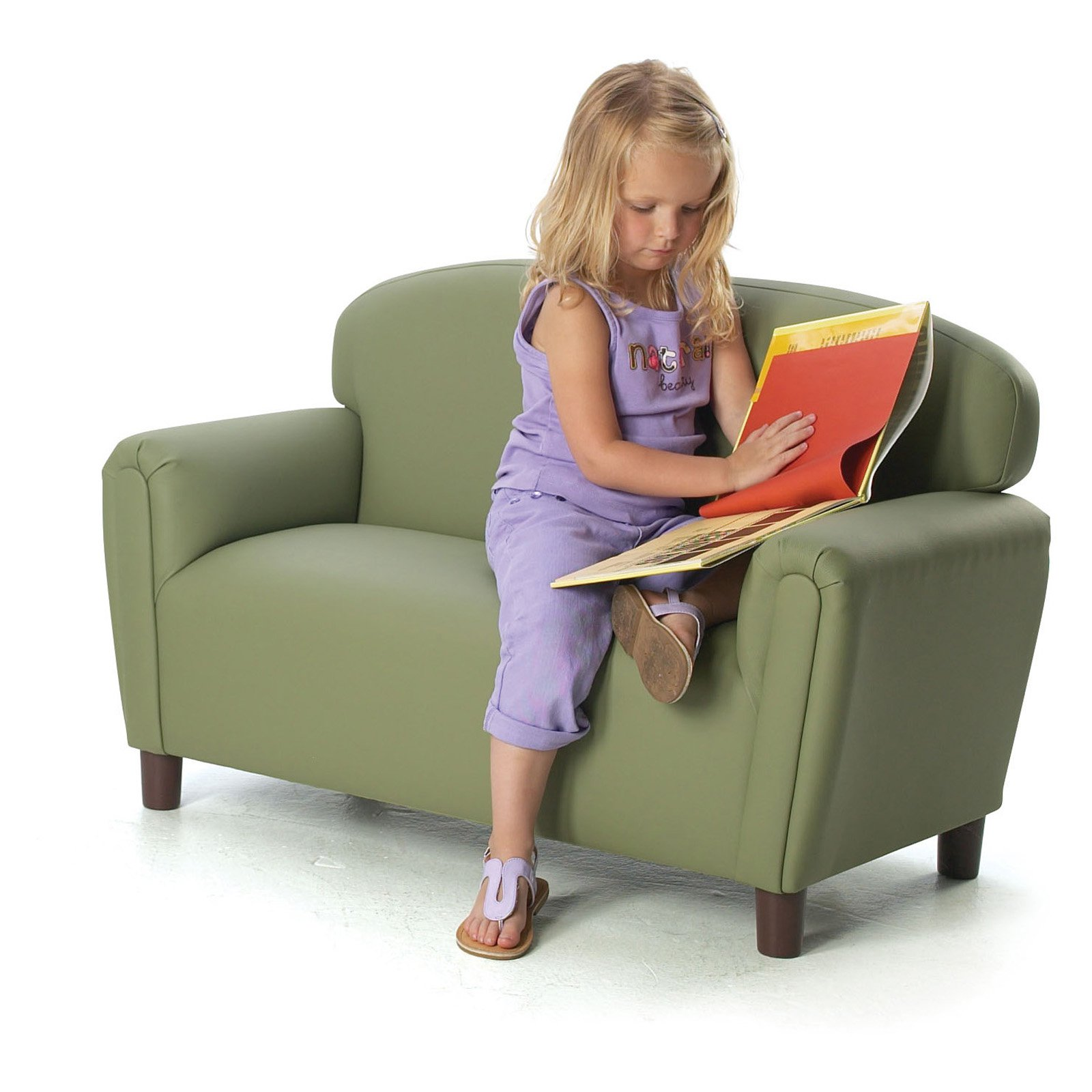 Brand New World Enviro-Child Upholstered Preschool Sofa by Brand New World