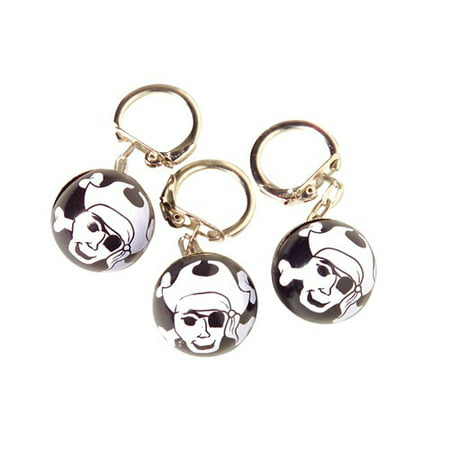 Lot of 12 Pirate With Crossbones Keychains Party Favors](Pirate Themed Favors)
