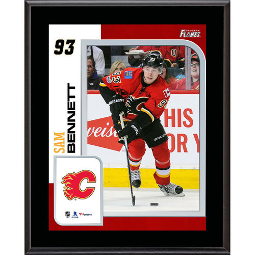 """Sam Bennett Calgary Flames 10.5"""" x 13"""" Sublimated Player Plaque - No Size"""