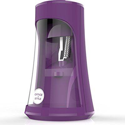 tronic pencil sharpener with auto stop safety feature for home, office or classroom, - purple- by office + style (Electronic Sharpener)