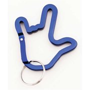 Cicso Independent N425 ILY Handshape Alloy Carabiner - Blue