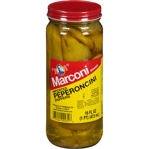 Marconi Imported Peperoncini Peppers, 16 fl oz, (Pack of 12)
