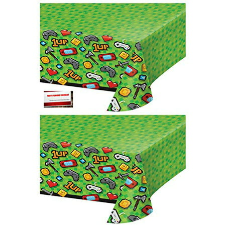 2 Pack - Gaming Gamer Birthday Party Plastic Table Cover 54 x 102 Inches (Plus Party Planning Checklist by Mikes Super Store)](Planning A Children's Halloween Party)