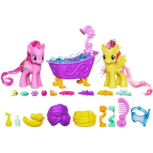 My Little Pony Crystal Empire Pinkie Pie & Fluttershy Crystal Sparkle Bath Figure Set by My Little Pony