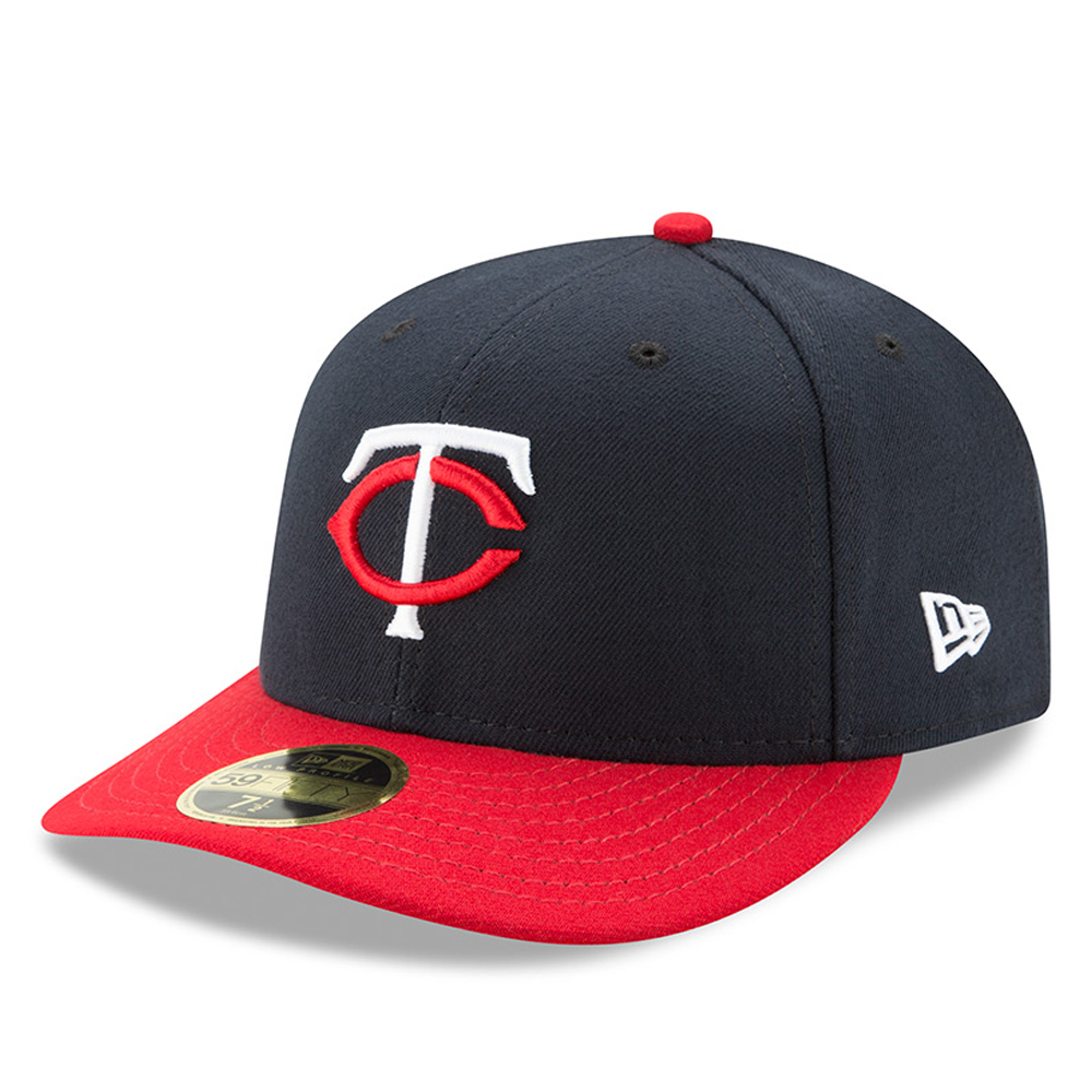 Minnesota Twins New Era Road Authentic Collection On-Field Low Profile 59FIFTY Fitted Hat - Navy/Red