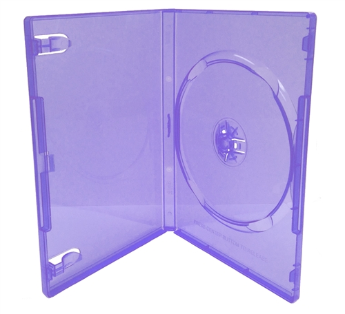 CheckOutStore 100 STANDARD Clear Purple Color Single DVD Cases