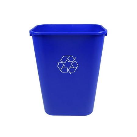 Busch Systems 41 Quart Deskside Recycling & Waste Basket Indoor Bin - 10.25 G - Royal Blue - Mobius Loop - image 1 of 2