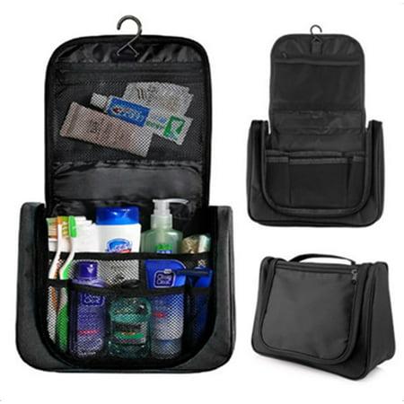 Multifunctional Travel Package Waterproof Wash Bag Hanging Toiletry Kit Organizer Black,28*10*22cm