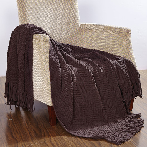 BOON Throw & Blanket Knitted Tweed Throw Blanket