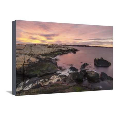 Sherbet Shores Stretched Canvas Print Wall Art By Eye Of The Mind (Sherbet Stem)