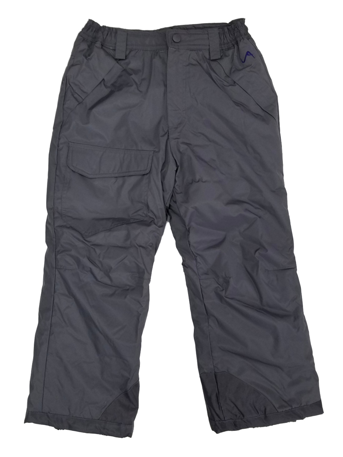 Boys Gray Water & Wind Resistant Insulated Cargo Snow Pants