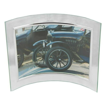 6 pieces Glass Picture Frame 7x5 (Silver Border) Curved