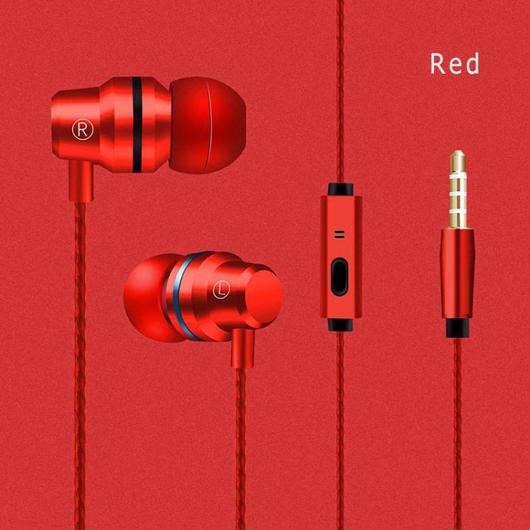 Wired Metal In-Ear Headphones Stereo Music Earbuds With Mic BEDYDS