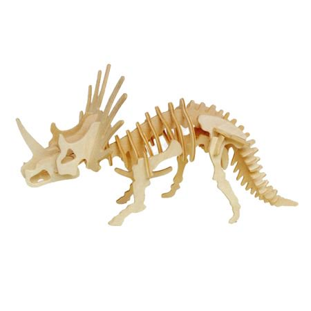 Styracosaurus Wooden Dinosaur Skeleton Model