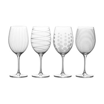 - Mikasa Cheers Bordeaux Red Wine Glass, 24-Ounce, Set of 4