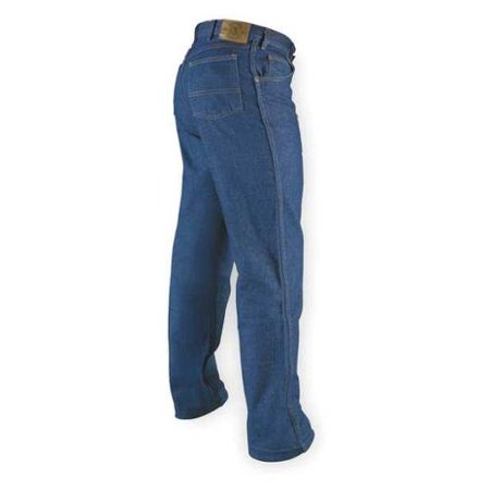 Indigo Striped Jeans - VF IMAGEWEAR PD60PW 42 X 34 Jean Pants, Indigo, Size 42x34 In