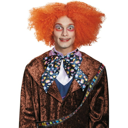 Mad Hatter Wig Adult Halloween Accessory (Dark Mad Hatter Costume Wig)