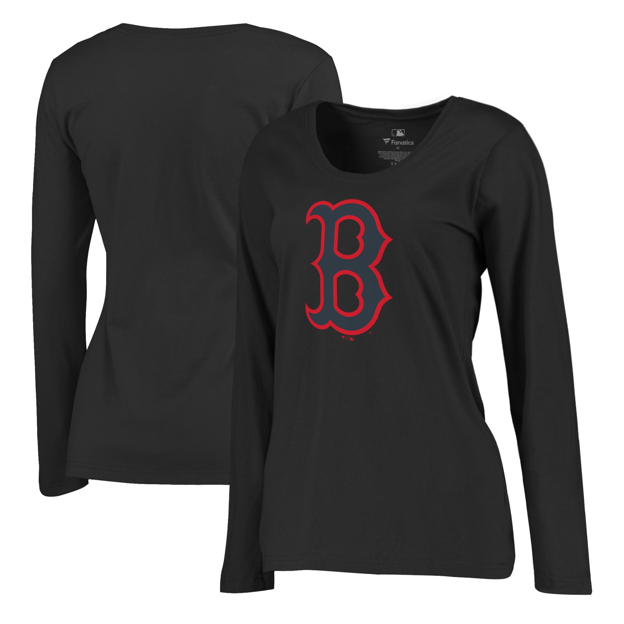 Boston Red Sox Fanatics Branded Women's Taylor Plus Size Long Sleeve T-Shirt - Black