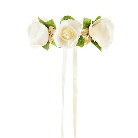 David tutera artificial white rose bridal flower crown walmart david tutera artificial white rose bridal flower crown mightylinksfo