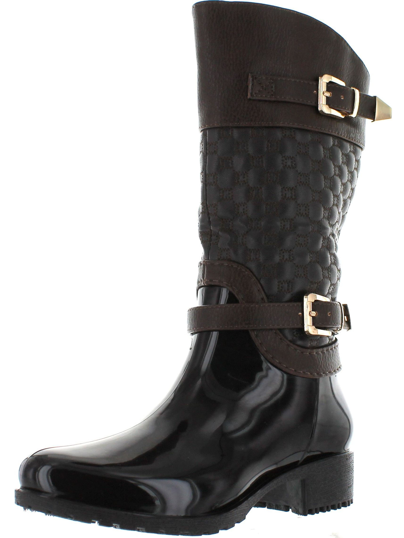 LInk FATIMA-27K Kids Girls Link Knee High Side Zip Riding Winter Rain Boots