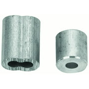 Campbell B7675424 Cable Ferrule and Stop Set 1/8 in Dia Cable Aluminum