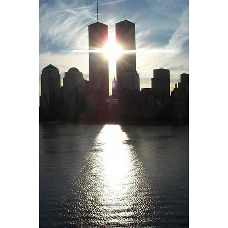 New York City Twin Tower - Canvas Print NYC Twin Towers World Trade New York City Center Stretched Canvas 10 x 14