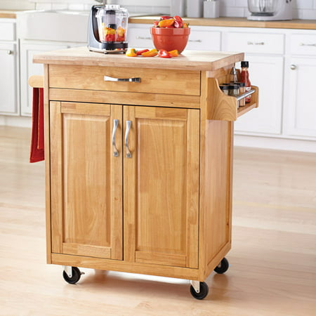 mainstays kitchen island cart, multiple finishes - walmart