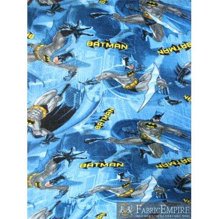 Fleece Fabric Printed Anti Pill Dc Comics Batman In Action Licensed