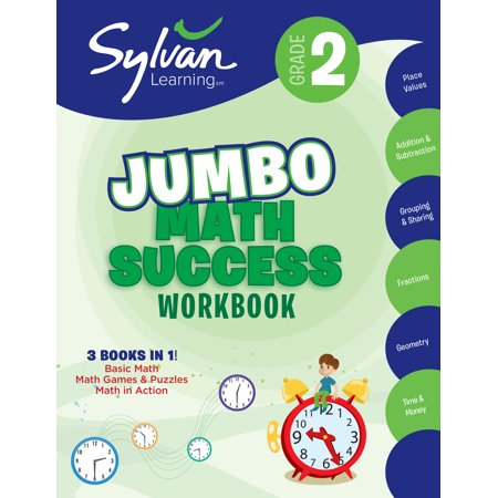 2nd Grade Jumbo Math Success Workbook : Activities, Exercises, and Tips to Help Catch Up, Keep Up, and Get Ahead (Second Grade Halloween Crafts)