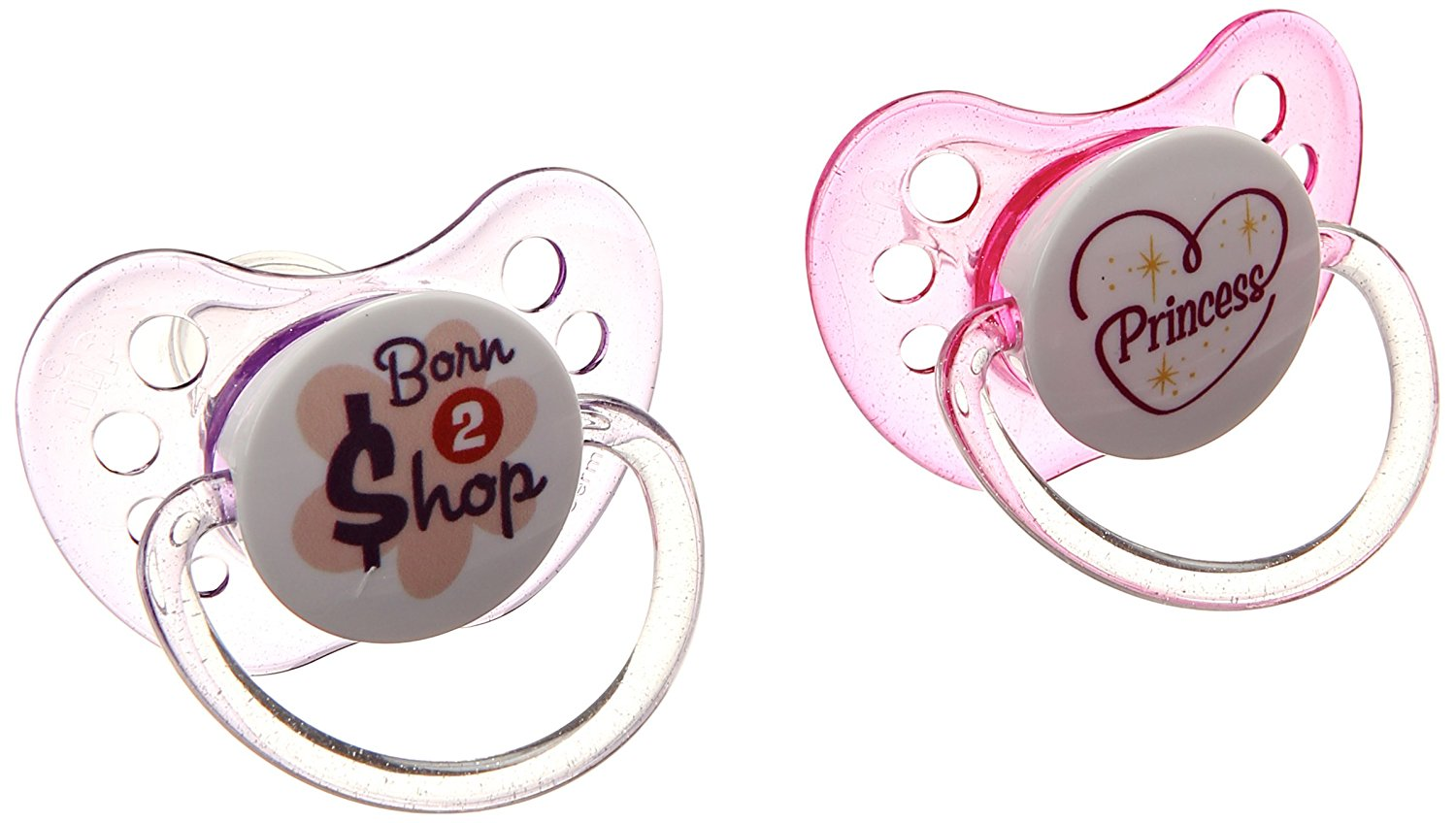 Ulubulu Expression Pacifier - 0-6 Months - 2 Pack - Princess / Born To Shop