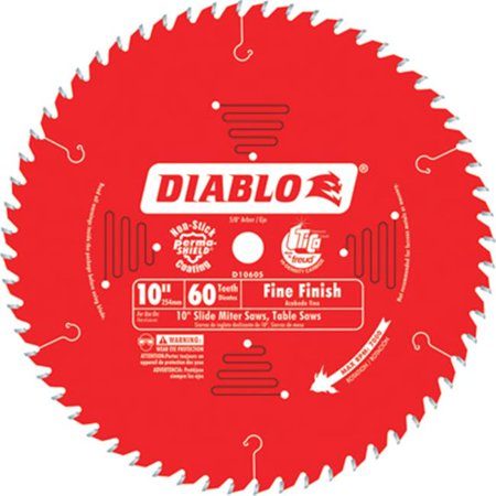 Diablo D1060S 10-Inch 60-TPI Carbide Tri-Metal Fine Finish Slide Miter Saw
